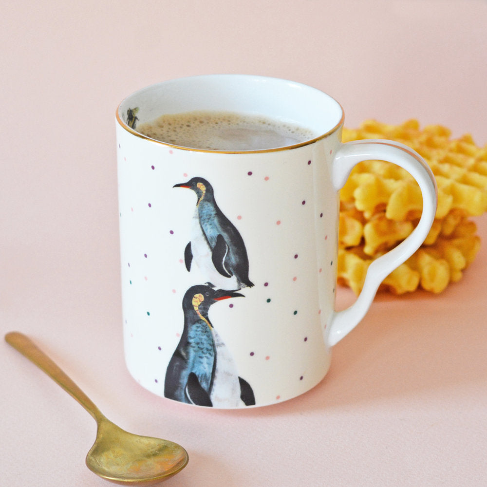 Perching Penguins Mug