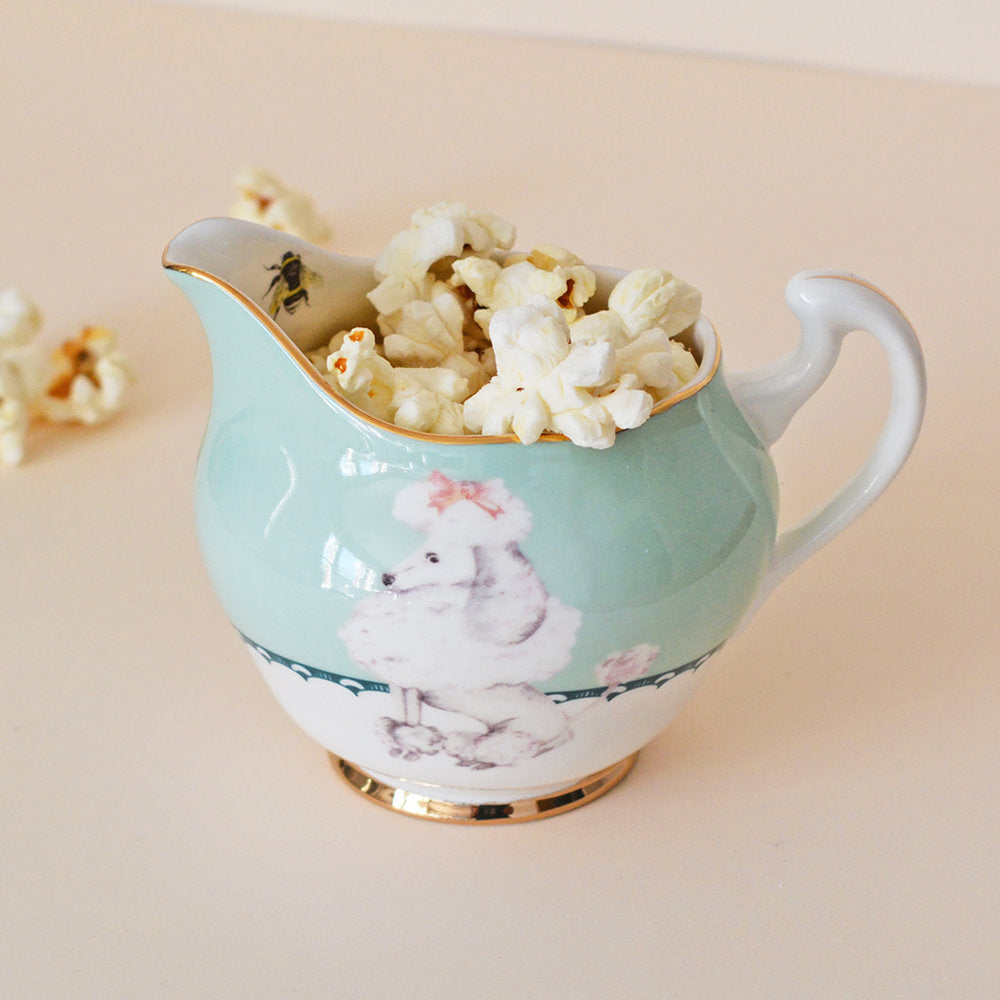 Pretty Poodle Jug with popcorn