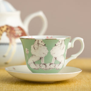 Poodle tea cup and saucer