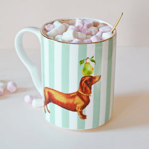 Load image into Gallery viewer, Sausage Doggie Mug with marshmallows