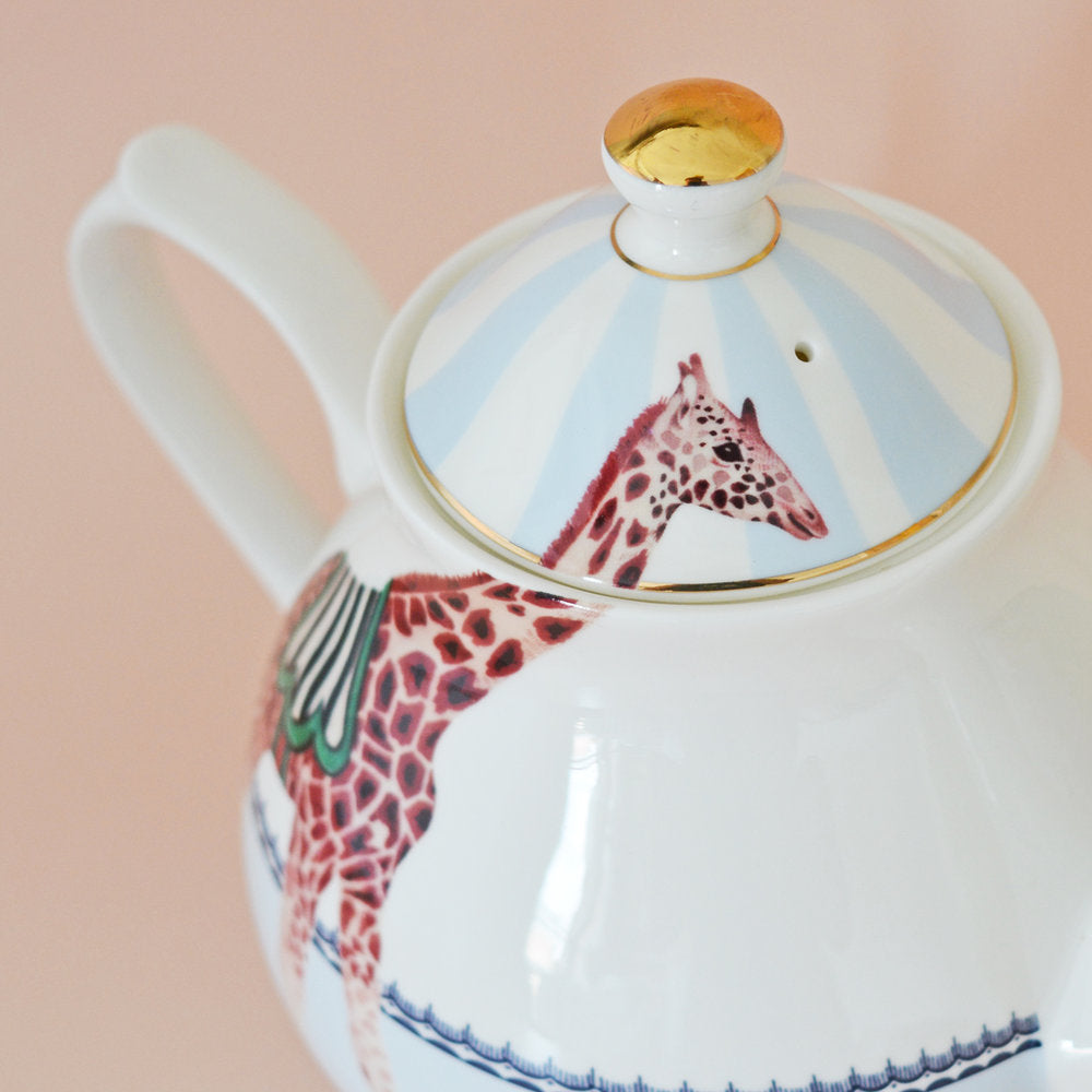 Load image into Gallery viewer, Carnival Giraffes Teapot close up
