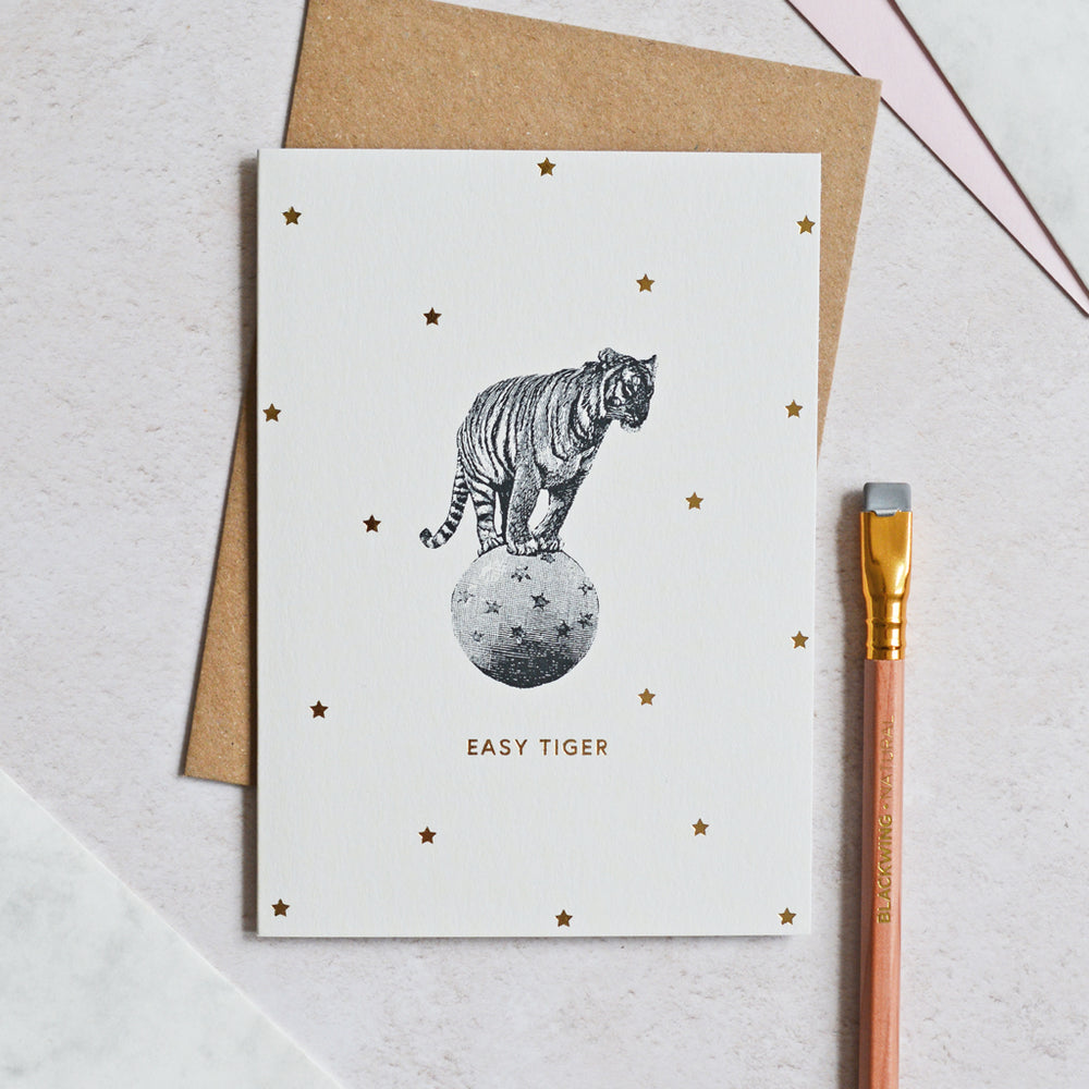 Mono Easy Tiger Greeting Card