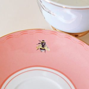 Load image into Gallery viewer, Saucer with bee emblem