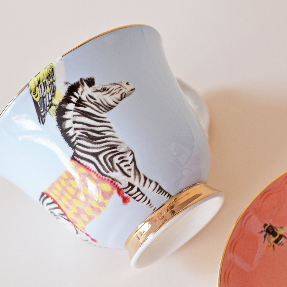 Load image into Gallery viewer, Carnival Zebras Teacup