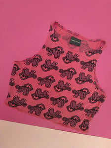 Cheeky Monkey Co-ord crop top