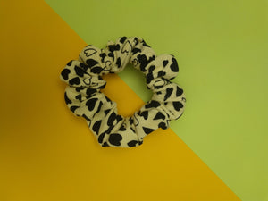 Yellow Heart Scrunchie