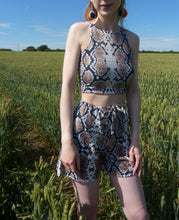 Load image into Gallery viewer, Snakey Co-ord crop top