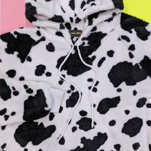 Load image into Gallery viewer, Fluffy Cow Print Hoodie