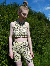 Load image into Gallery viewer, Yellow Heart Co-ord crop top