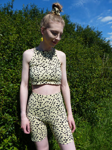 Yellow Heart Co-ord crop top
