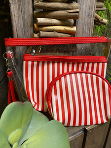 Self Care - Packsac Cosmetic Bag in Red/White