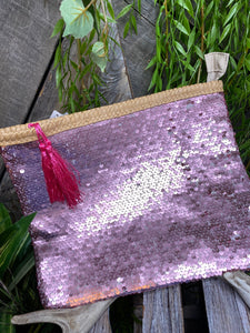 Self Care - Indaba Toiletry Bag in Pink Sequin