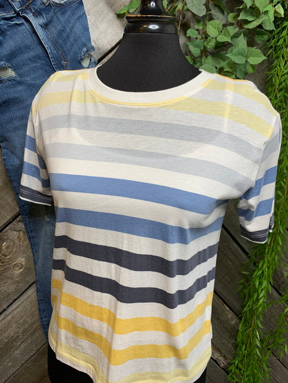 Z Supply - Blue/Grey & Yellow T-Shirt