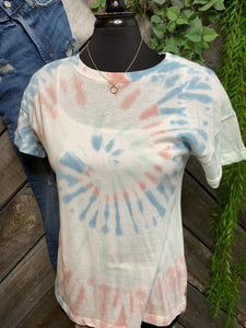 Z Supply - Blue/Green/Pink Tye Die Shirt