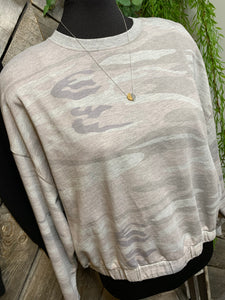 Z Supply - Grey Camo Sweater