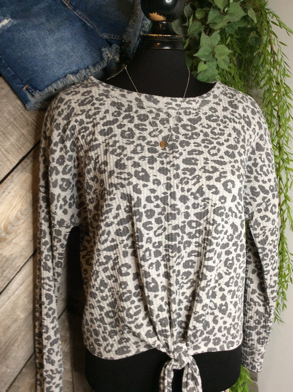 Z Supply - Leopard Black/Grey Shirt