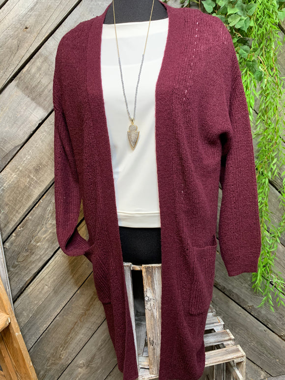 Gentle Fawn - Carrall Cardigan in Burgundy