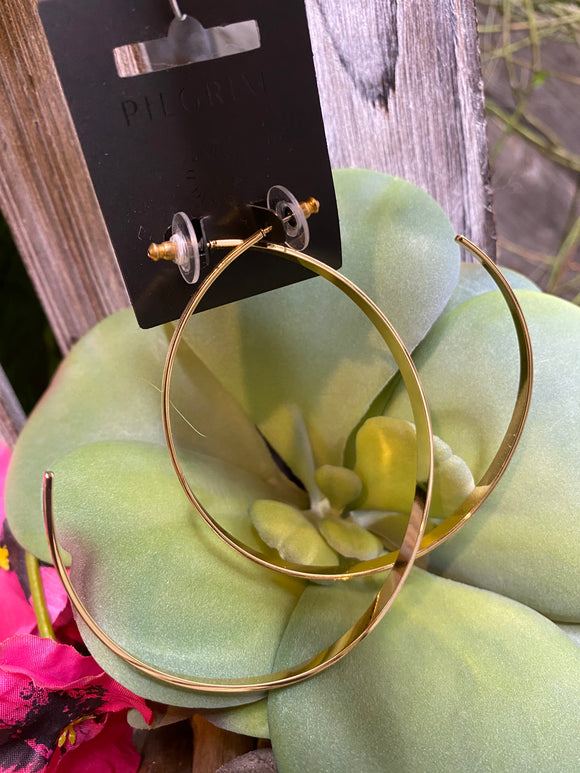 Jewelry - Pilgrim - Large Thick Hoop Earrings in Gold
