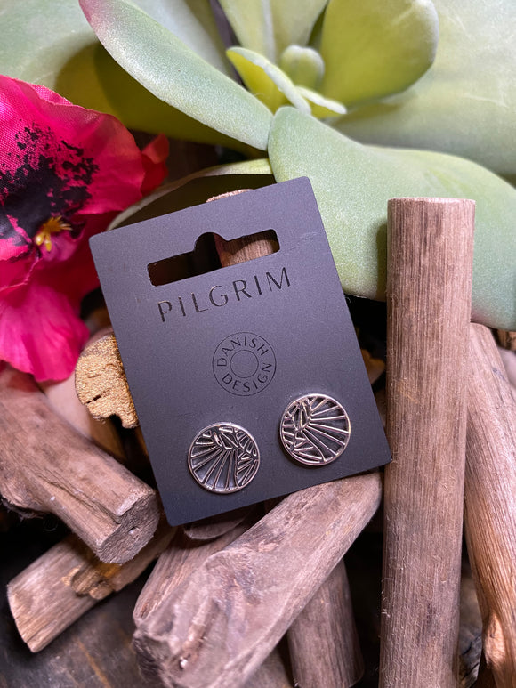 Jewelry - Pilgrim - Sunburst Stud Earrings in Silver
