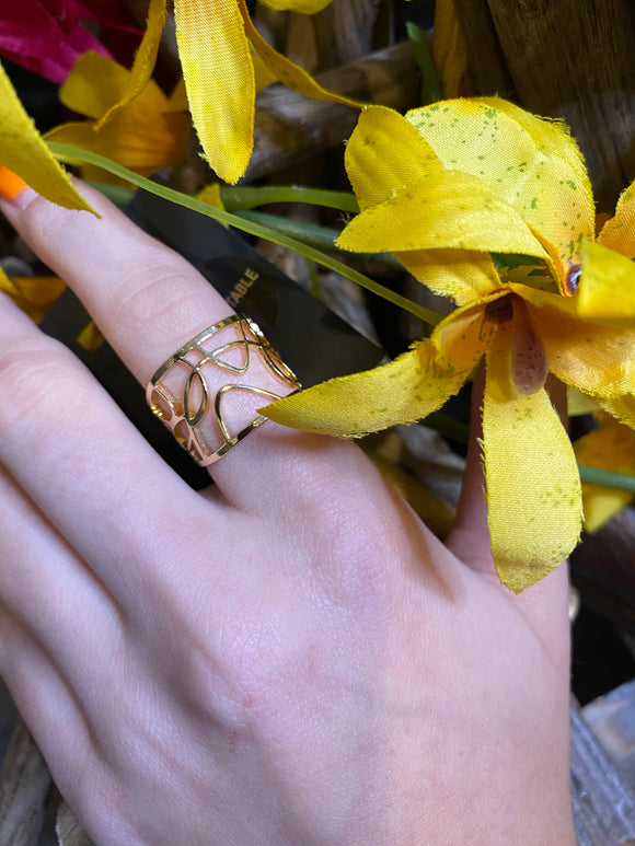 Jewelry - Pilgrim - Sunburst Wide Ring in Gold