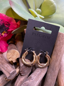 Jewelry - Pilgrim - Twirl Hoop Earrings in Gold