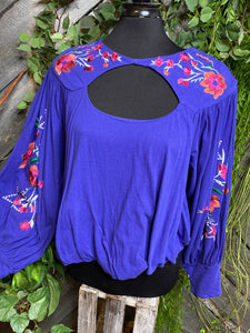 Blowout Sale - FP Blouse in Purple