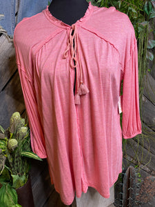Blowout Sale - FP Long Sleeve Shirt in Pink