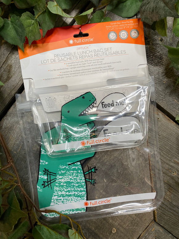 Giftware - Reusable Lunch Bag Set in Dinosaurs