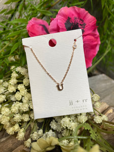"Jewelry - Fab Accessories - Necklace ""U"" in Rose Gold"