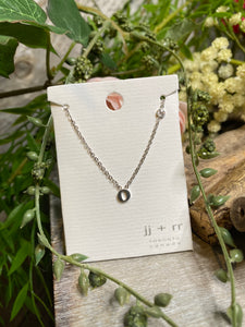 "Jewelry - Fab Accessories - Necklace ""O"" in Silver"