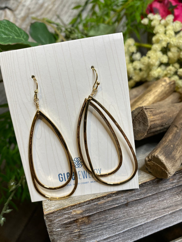 Jewelry - Glee - Large Double Hoop Earring in Gold