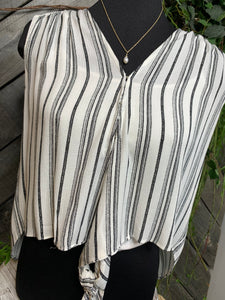 By Together - Black/White Striped Shirt