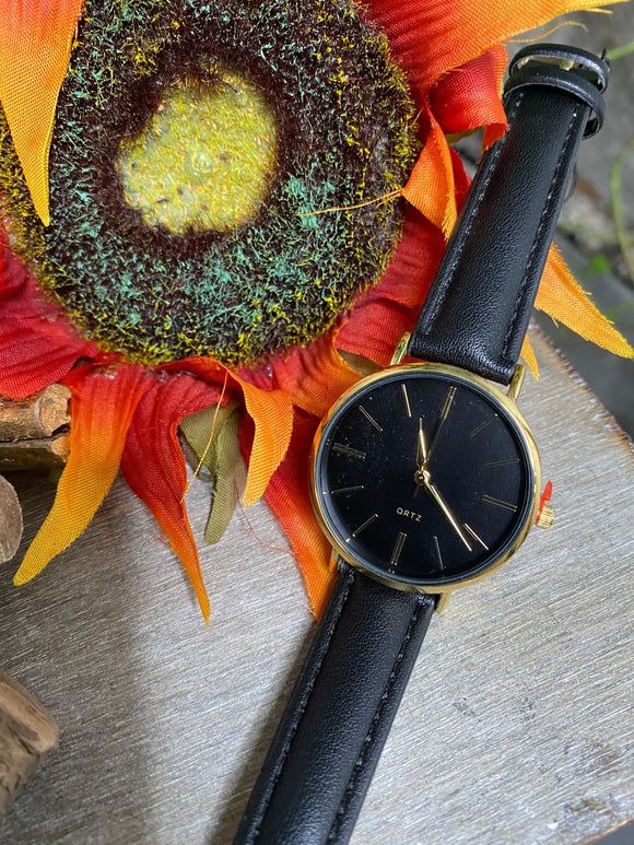Jewelry - Watches - Large Face Black Strap