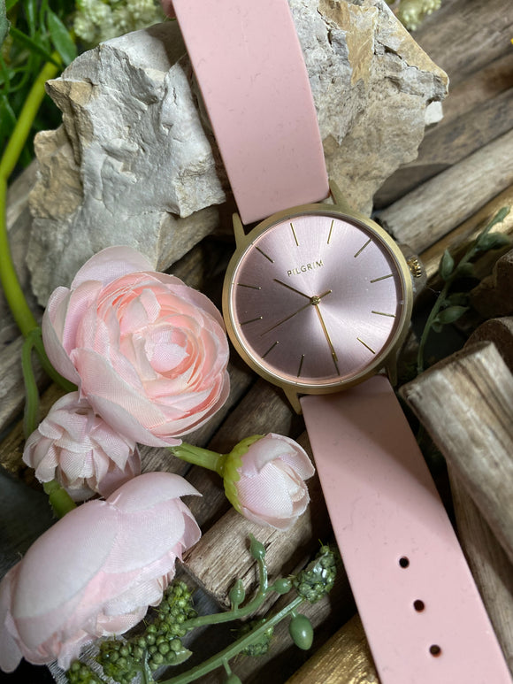 Jewelry - Watches - Pilgrim Large Pink Face with Pink Strap