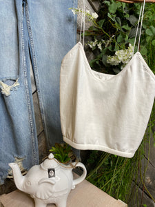 Free People - White Tank Top Half Length
