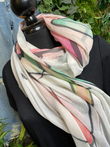 Scarf - Shalimar Pink/Green/Black/White