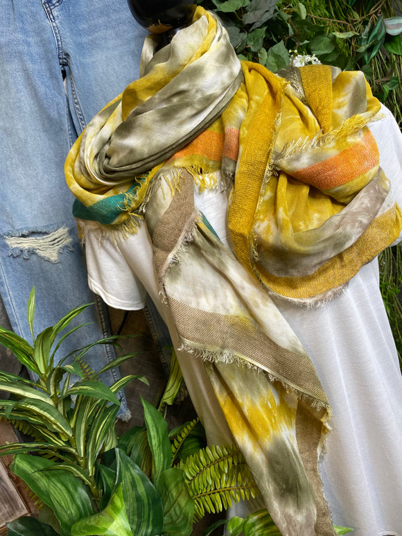 Scarf - Shalimar Tie-Dye Green/Yellow