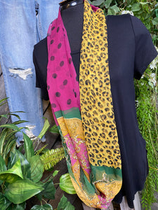 Scarf - Infiniti Purple with Black Polka Dots