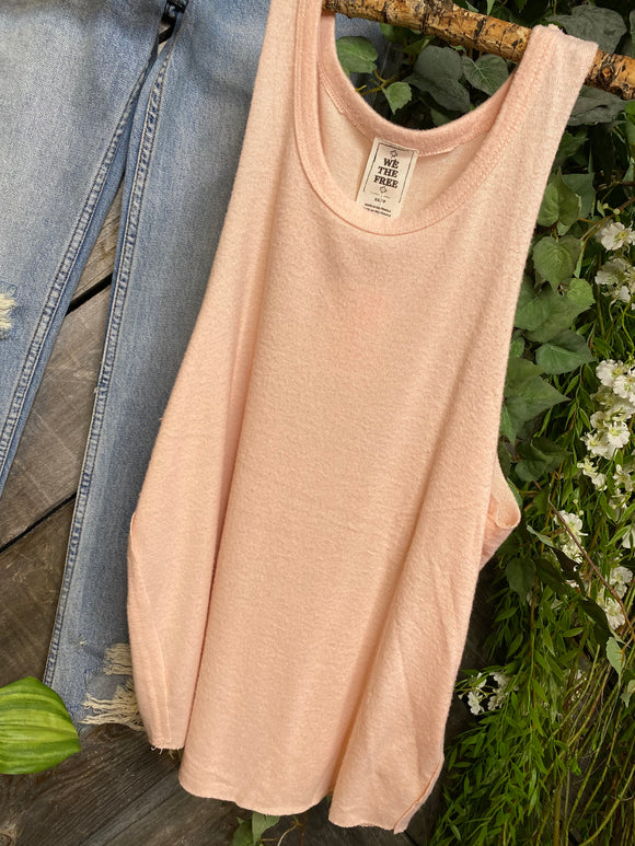 Free People - Pale Orange Tank Top