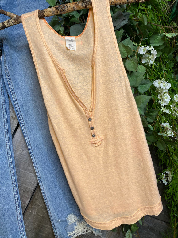 Free People - Orange Tank Top