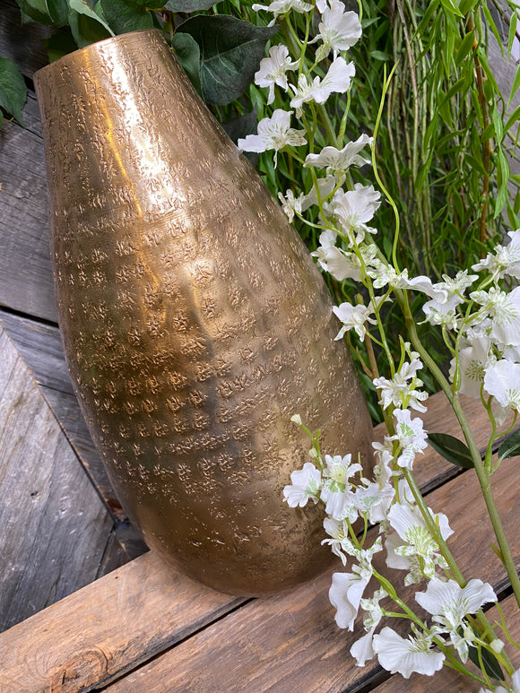 Giftware - Gold Teardrop Tall Vase
