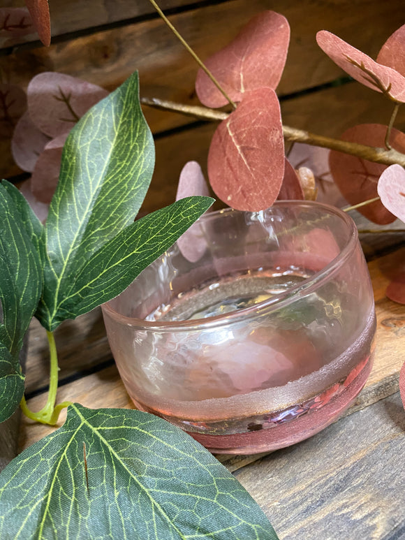 Giftware - Pink/Clear Small Bowl