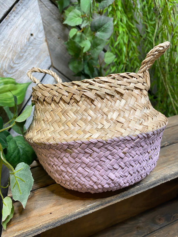 Giftware - Small Pink Wicker Baskets