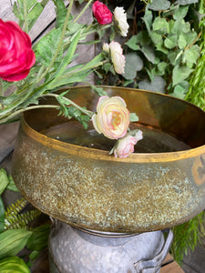 Giftware - Large Metal Marble Bowl