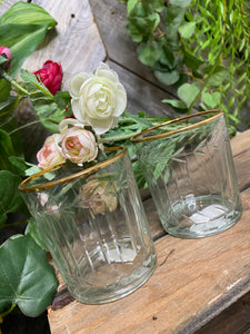 Giftware - Small Glasses with Gold Rims