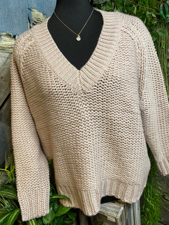 Blowout Sale - CM Knit Sweater in Pale Pink