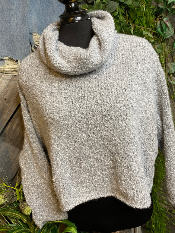 Blowout Sale - FP Turtle Neck Sweater in Light Grey