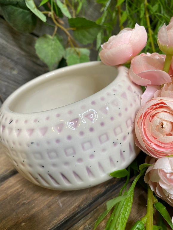 Giftware - Light Pink Round Vase with 3 Legs