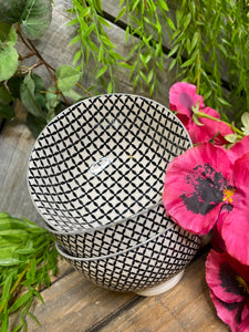 Giftware - Small Black Print Bowl