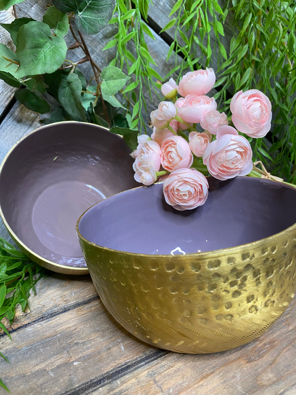 Giftware - Gold/Purple Medium Bowl